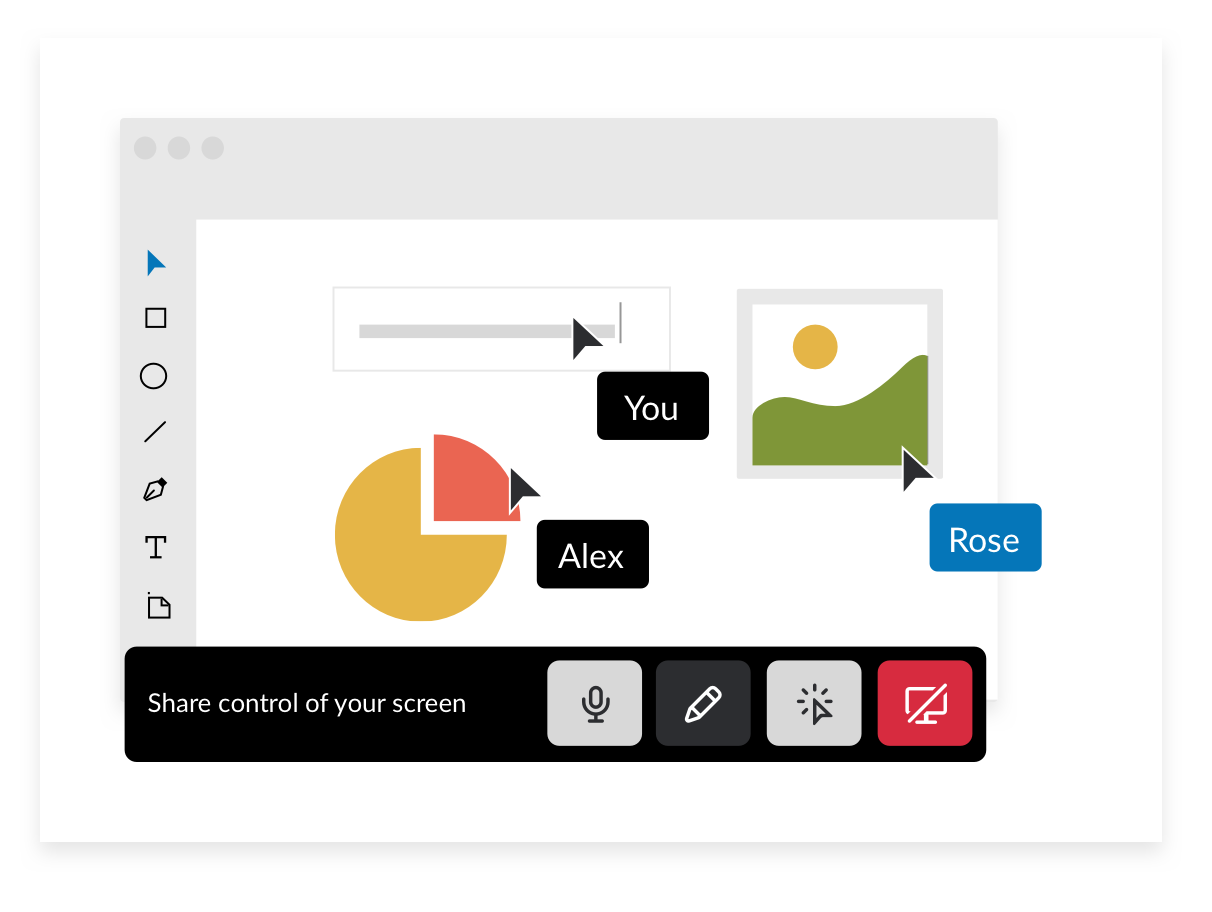 screen sharing with your team