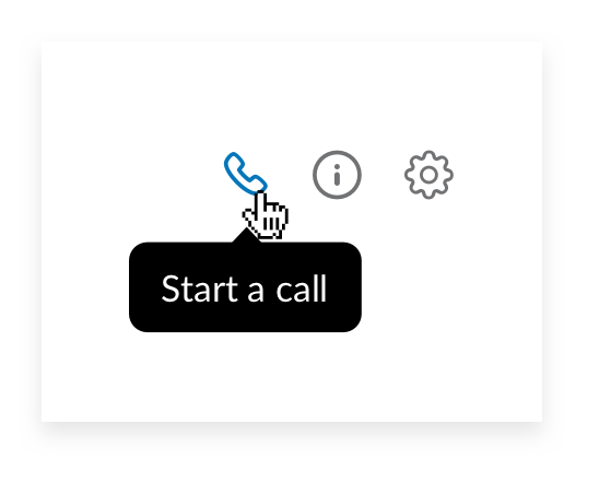 Start a video call in channel