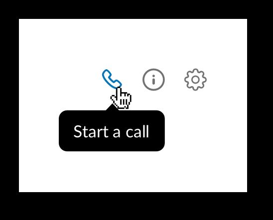 Start a Slack call