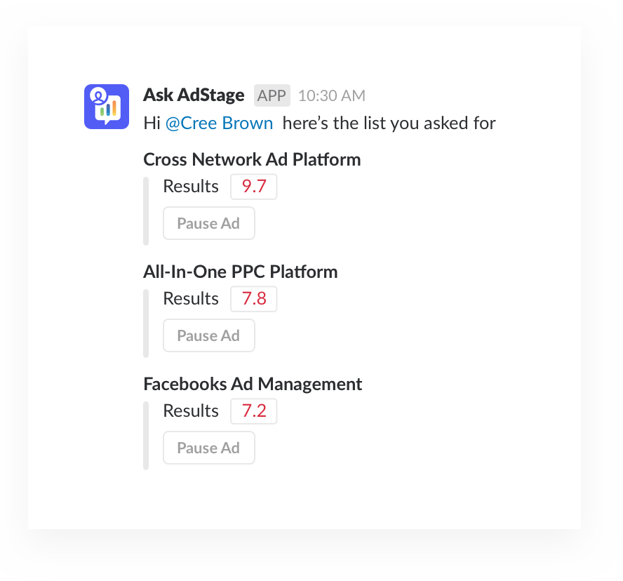 Ask AdStage Paid Marketing Campaigns