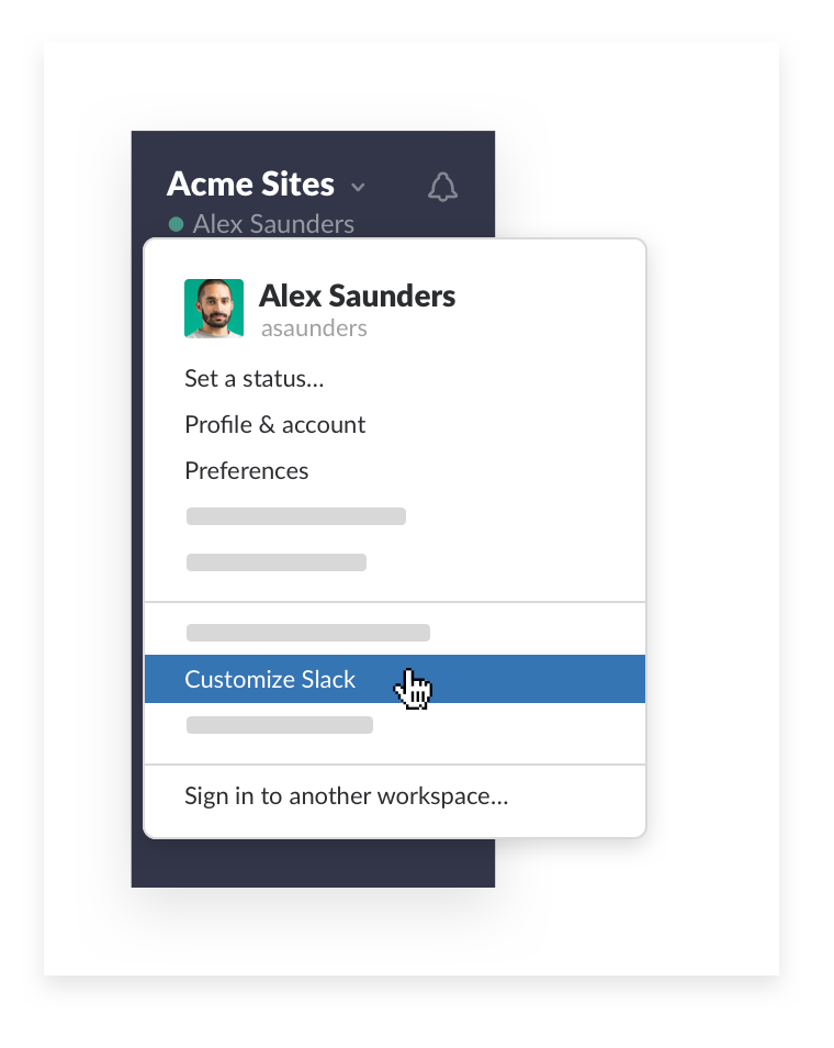 Customize Slack workspace