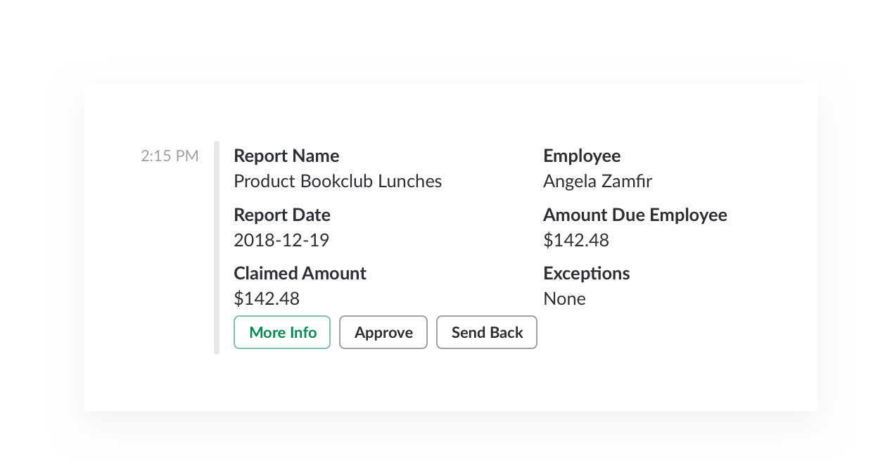 Expense report approval in Concur app