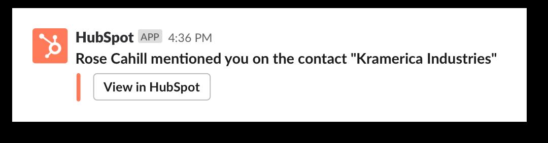 Receiving Hubspot alert in Slack