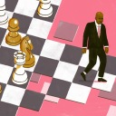 man on chess board