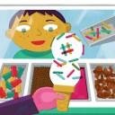 A copy customizing an ice cream order