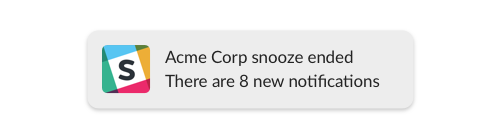 snooze ended notification