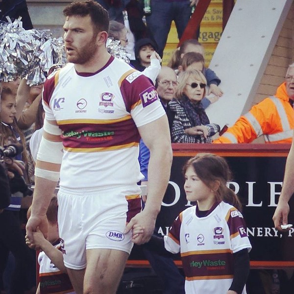 Keegan Hirst with his children