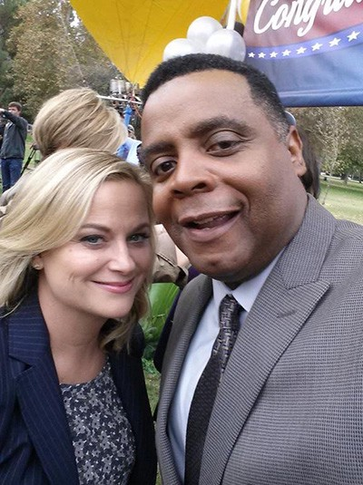 Jackson with Amy Poehler