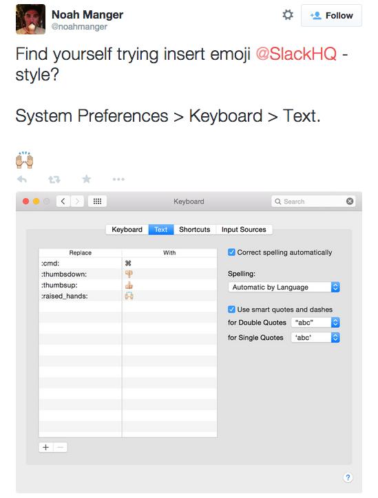 tweet about creating keyboard preferences
