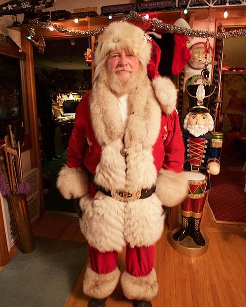 dressed up as Santa