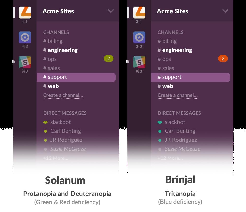 Solanum and Brinjal color schemes