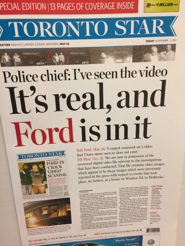 front page of Toronto Star