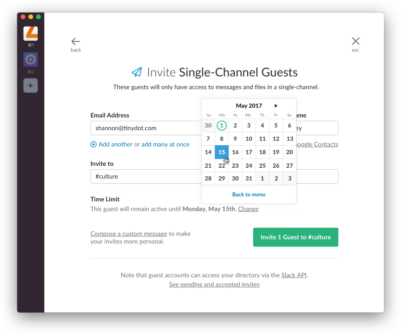 invite single channel guests