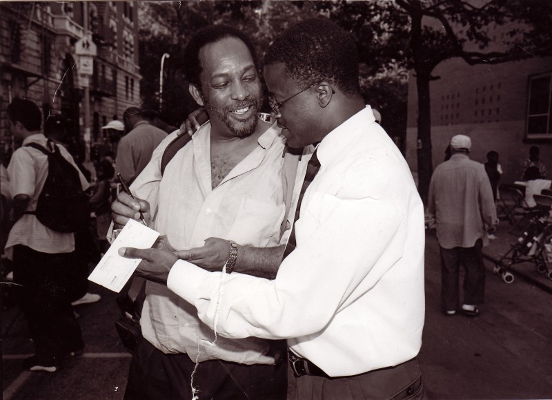 Maurice Ashley and his father