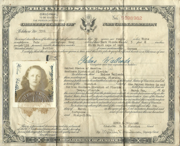 old naturalization document