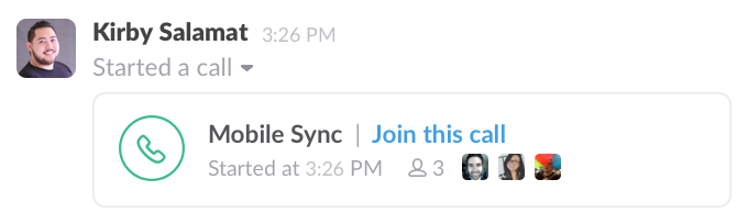 call a teammate in Slack
