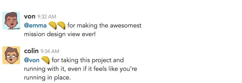 compliments on slack