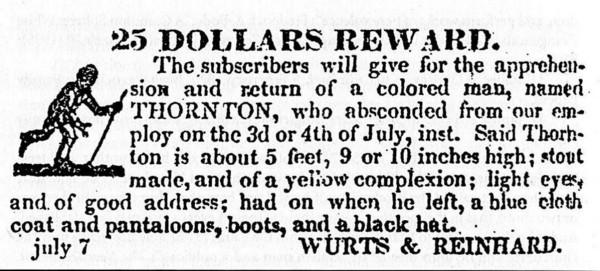 fugitive slave notice