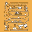 sales flowchart illustration