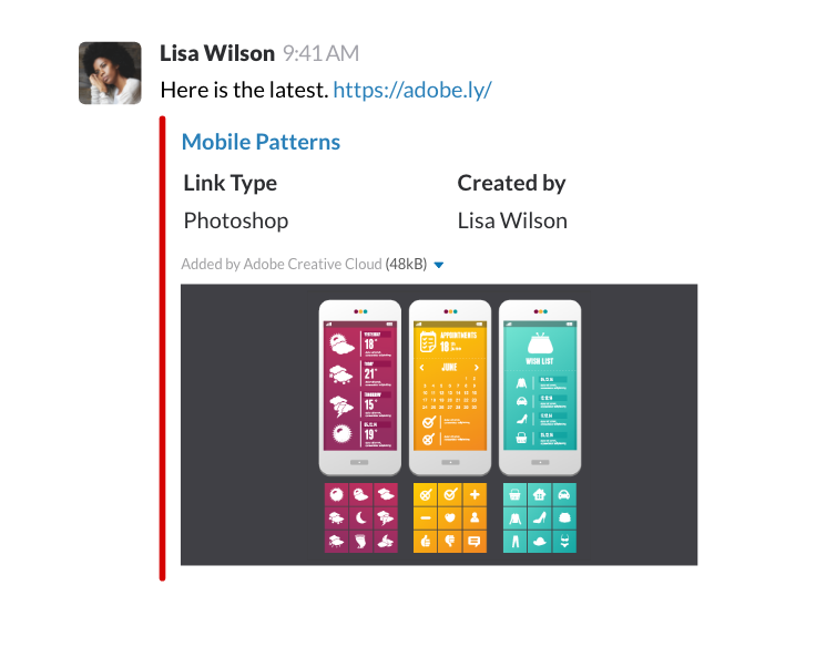 A better way to collaborate with Adobe Creative Cloud and Slack