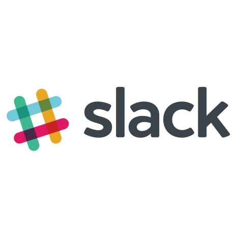 Colorful Slack hashtag logo alongside the word Slack