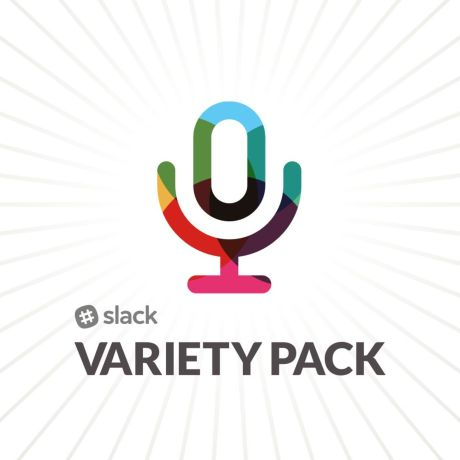 Slack Variety Pack logo with microphone in Slack colors