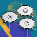 An illustration with three air bubbles talking to each other.