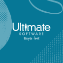 Ultimate Software logo with blue background