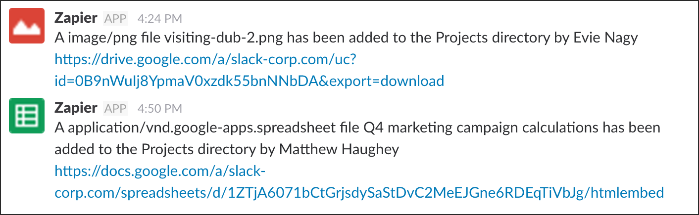 Image showing how the Zapier app integrates with a spreadsheet and an image