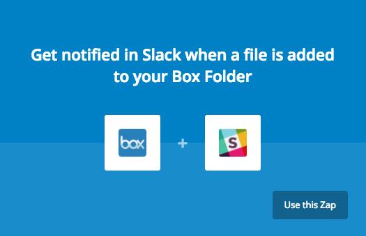 Image showing box plus Slack logo with blue background