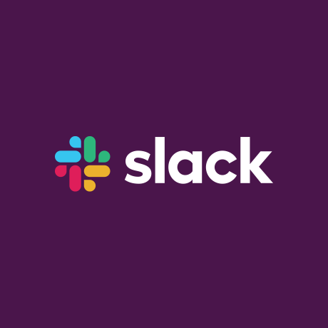 New Slack logo with purple background