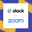 Slack and Zoom logos together: A sign of a new partnership and a joint commitment to making work communication better than ever.