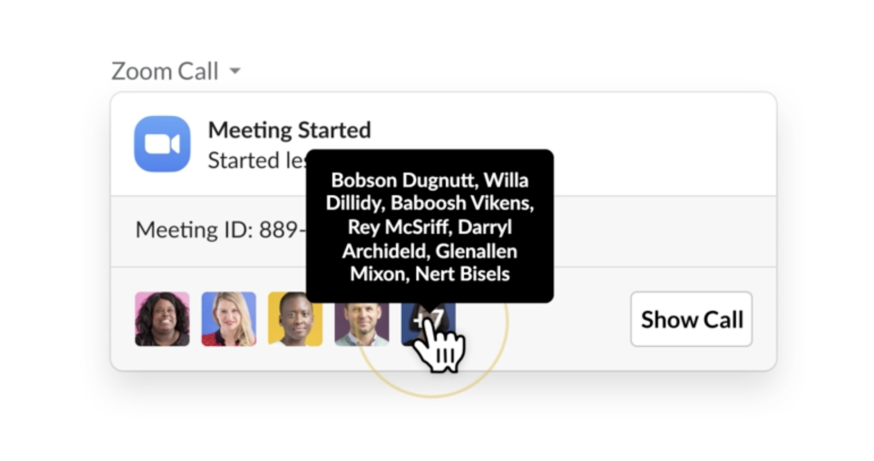 Manage Zoom meetings directly from Slack