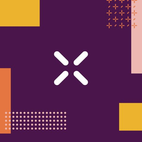 "A white ""X"" on a purple background marks the metaphorical spot for developers at Slack's annual Frontiers conference."