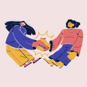 collaboration skills image of two women shaking hands in agreement