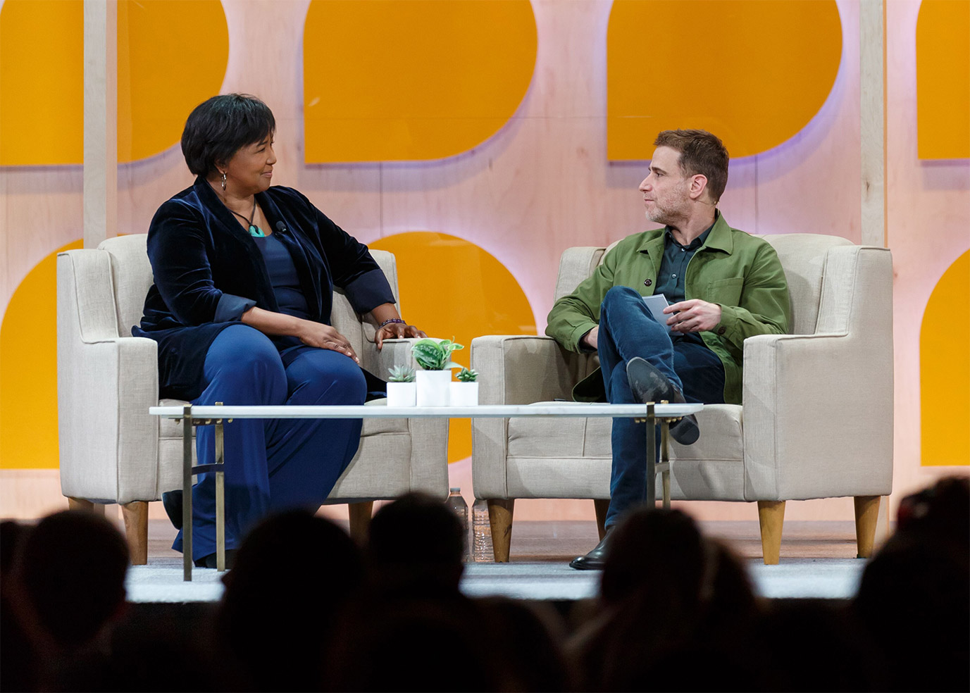 mae jemison discusses great teamwork with Slack CEO Stewart Butterfield