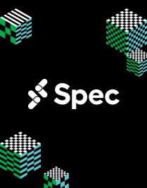 Image of the Spec logo framed by illustrations. Spec is Slack's developer conference