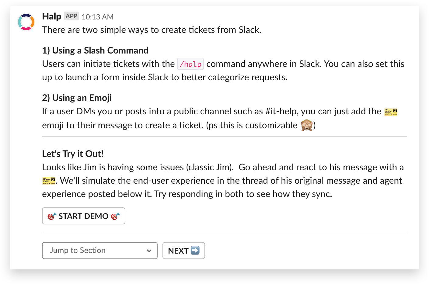 How to create a self-serve ticket in Slack with Halp
