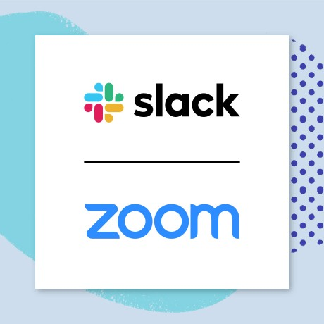 Slack and Zoom logos are used to illustrate a collaborative partnership that has resulted in a more seamless user experience.