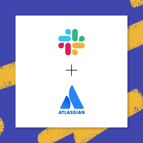 An image of the Slack logo, a plus sign, and the Atlassian logo