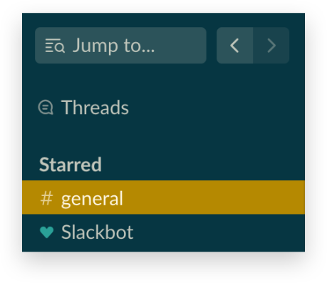 Back and forward buttons in Slack