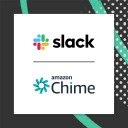 Slack logo with Amazon Chime logo