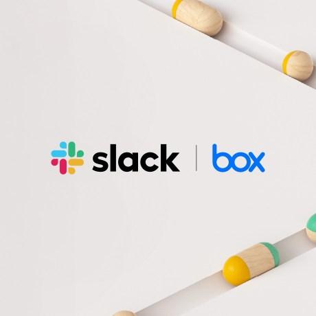 The Slack and Box logos
