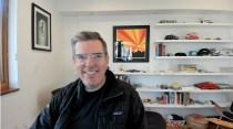 Slack senior writer Matt Haughey participates in a Zoom call