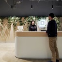 a man checking in to Square's Australia office