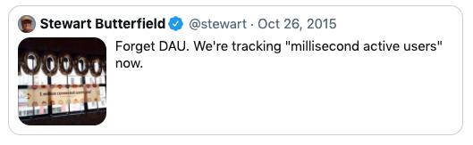 A 2015 Tweet from Stewart Butterfield