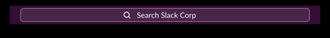 Slack search bar