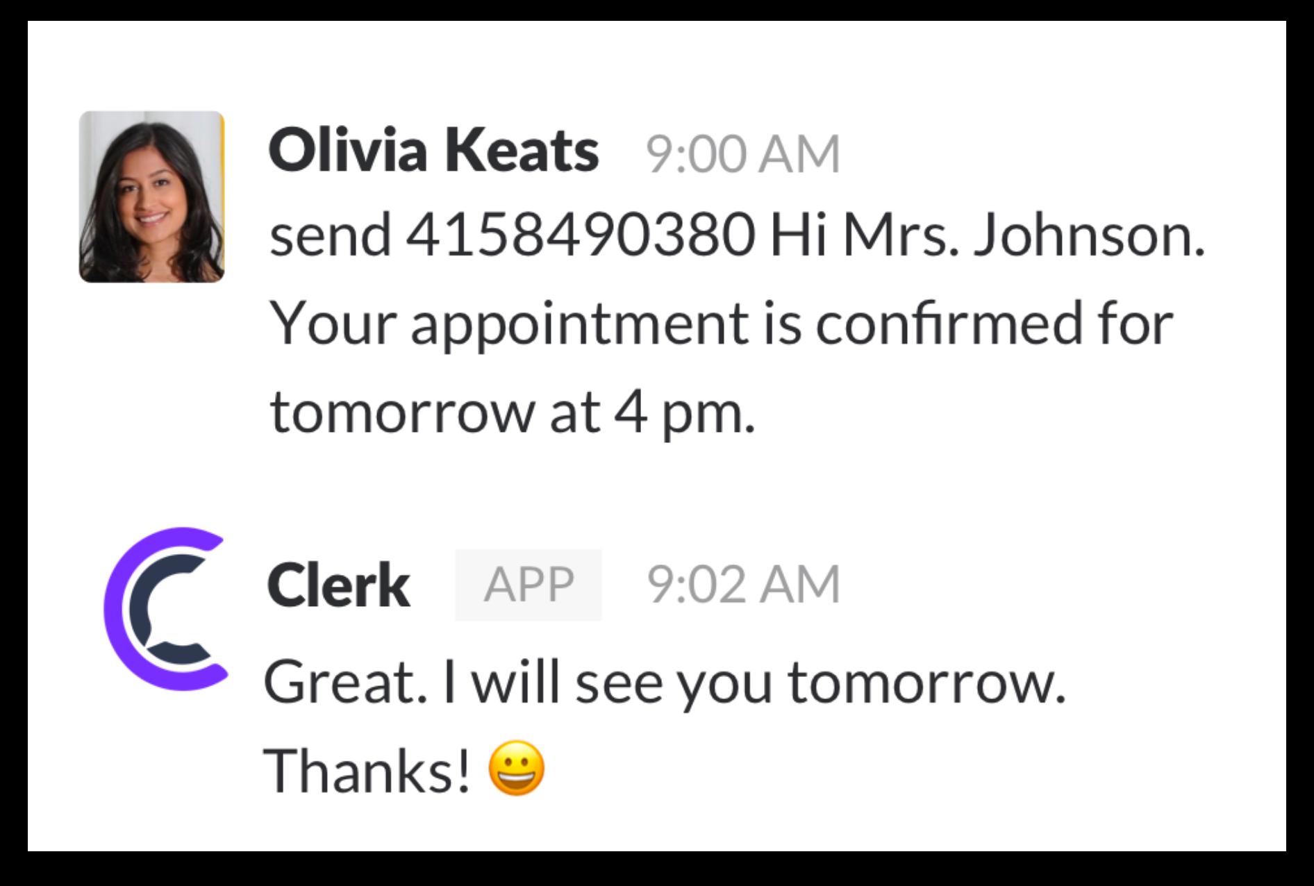 Clerk app