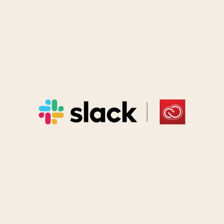 Slack and Adobe Creative Cloud logos