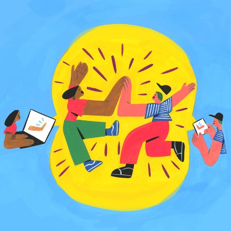 An illustration by Slack to accompany piece on remote work